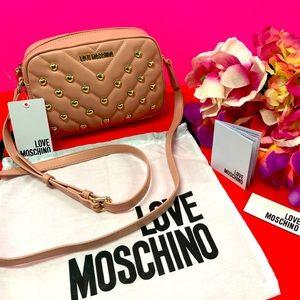 💗FINAL SALE! LOVE MOSCHINO STUDDED CROSSBODY BAG